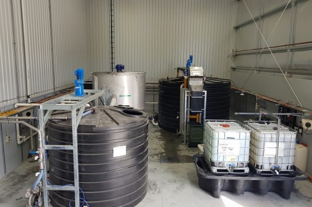 circular dissolved air flotation industrial wastewater treatment