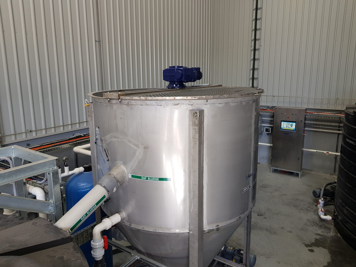 circular dissolved air flotation wastewater treatment