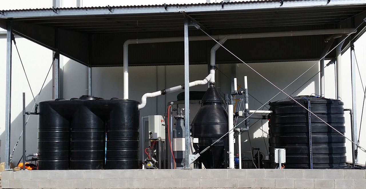 Cordina Farms poultry processing wastewater treatment dissolved air flotation