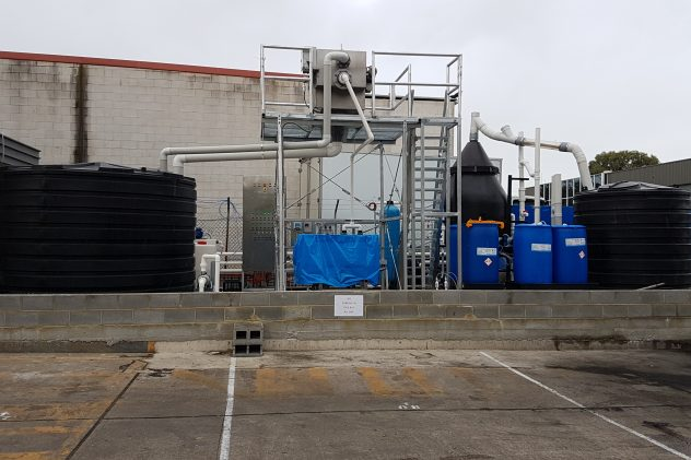B&E foods poultry processing wastewater treatment