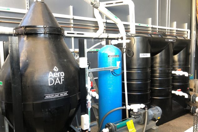 Dissolved air flotation DAF wastewater treatment system DAF plant process Dissolved air flotation system for wastewater treatment, DAF plant process