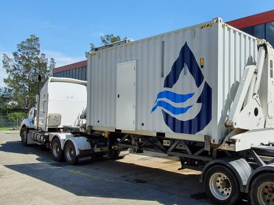 wastewater treatment shipping container
